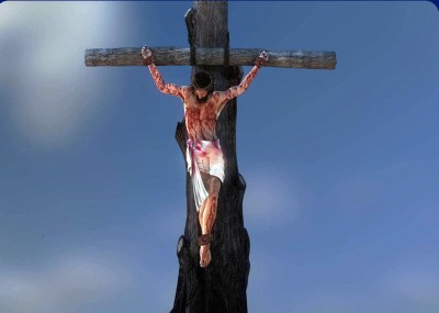 Jesus cruz tosca