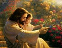 Jesus_criança_flores