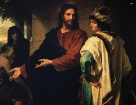 Gravuras do evangelho o novo testamento 244 Cristo e o Jovem Rico