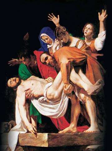 Descendo jesus da Cruz - Caravágio