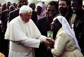 O Papa na África.