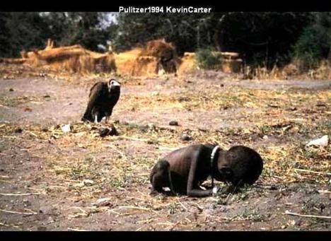 Carter, o fotográfo suicidou-se após ganhar o premio.
