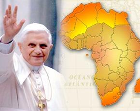Primeira Visita do Papa Bento XVI na África.
