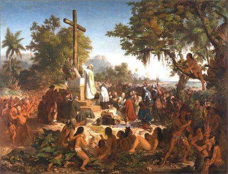 A Primeira Missa no Brasil, Victor Meireles, 1860.