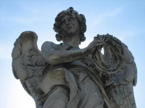 Anjo com a coroa de espinhos - Ponte Castelo santo Angelo - Bernini