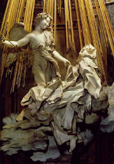 Gian Lorenzo Bernini, The Ecstasy of Saint Therese 1647-52 Marble, height 350 cm Cappella Cornaro, Santa Maria della Vittoria, Rome