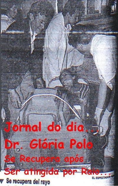Jornal mostrando Glória Polo