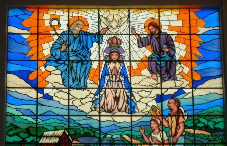 Trindade Vitral Divino Pai Eterno
