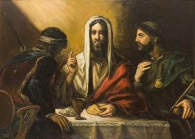 E Seus olhos se abriram ao Partir do Pão.