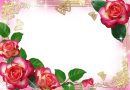 Moldura_rosas_Flower-Photo-Frame