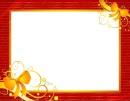 Moldura-de-Natal_Vermelha_laços_dourados