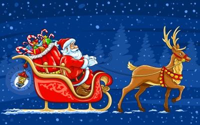 Papai_noel_trenó-sleigh