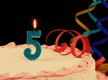 aniversario 5 anos