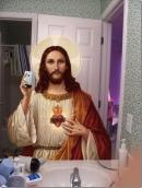 Selfie_Jesus_no_espelho