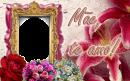 flores-dia-das-mães-te-amo-moldura-rosas-lilas-violeta-rosa-pink-foto-frame-lírios-album-recado-comemorativa-