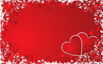 Valentine grunge background, vector illustration