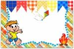 convite festa junina turma da monica Chico_bento