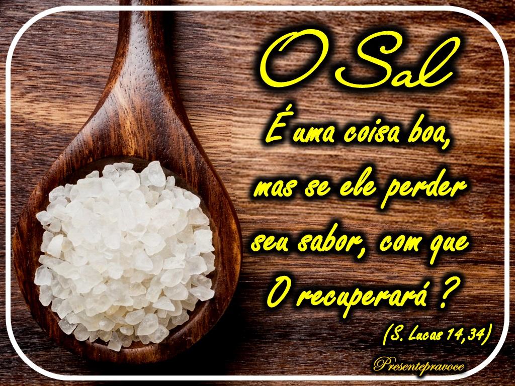 Dinâmica: Sal da Terra   Enchei-vos do Espírito Santo de Deus ...